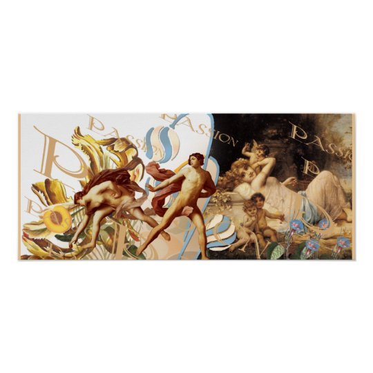 Cupid and the Cherubs - Adam and Eve Poster