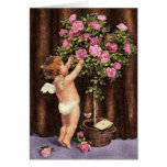 Cupid and Topiary Greeting Cards
