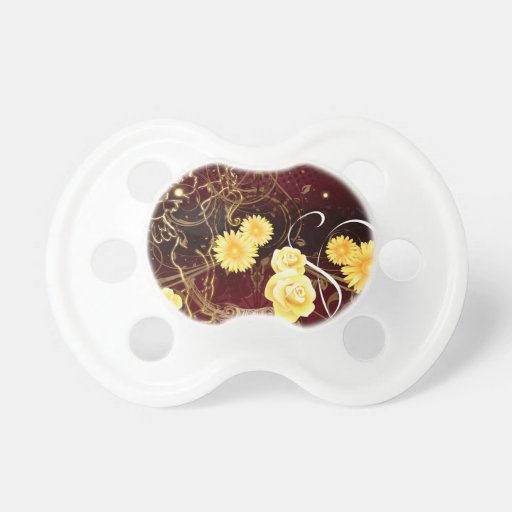 Cupid and Yellow Flowers BooginHead Pacifier