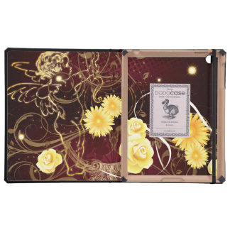 Cupid and Yellow Flowers iPad Cases