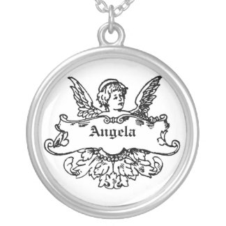CUPID ANGEL CUSTOMIZABLE NAME NECKLACE
