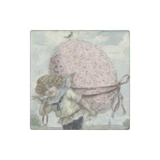 Cupid Angel Easter Egg Floral Flowers Bird Stone Magnet