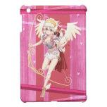Cupid angelical del animado - rosa, en corazones iPad mini coberturas