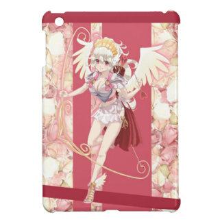 Cupid angelical del animado - rosa, en rosas