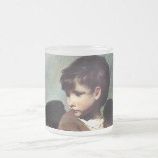 Cupid as a Link Boy 10 Oz Frosted Glass Coffee Mug