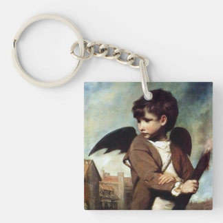 Cupid as a Link Boy Double-Sided Square Acrylic Keychain
