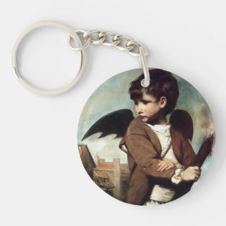 Cupid as a Link Boy Double-Sided Round Acrylic Keychain