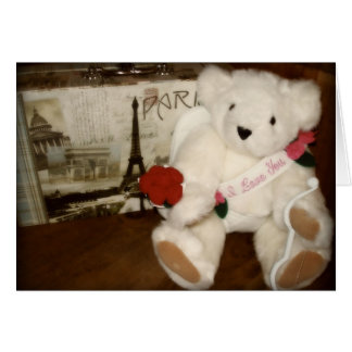 Cupid Bear Card
