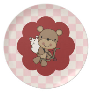 Cupid Bear Dinner Plate