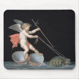 Cupid being led by Tortoises (oil on panel) Mouse Pad