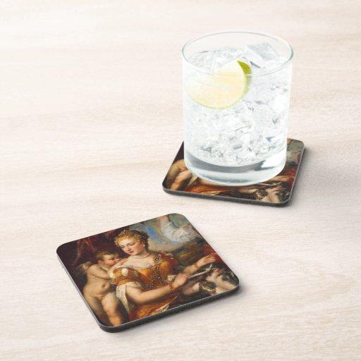 Cupid Blindfolding de Venus Posavasos De Bebidas