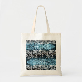 Cupid Blue Sheen Glass Tote Bag