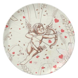 Cupid Bow and Arrow plate