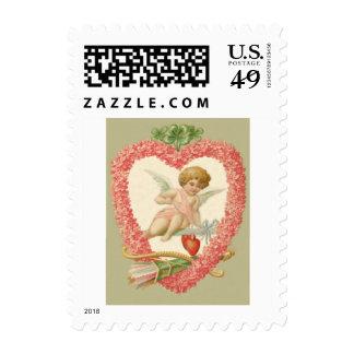 Cupid Bow Arrow Daisy Four Leaf Clover Postage