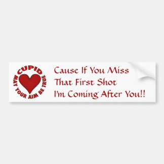 Cupid Car Bumper Sticker