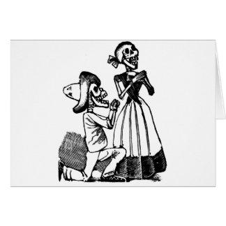 Cupid Calavera, Skeleton Lovers c. 1900s Cards