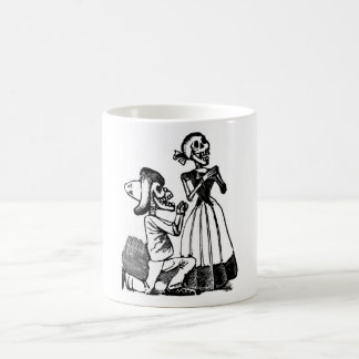 Cupid Calavera, Skeleton Lovers c. 1900s Classic White Coffee Mug