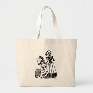 Cupid Calavera, Skeleton Lovers c. 1900s Jumbo Tote Bag