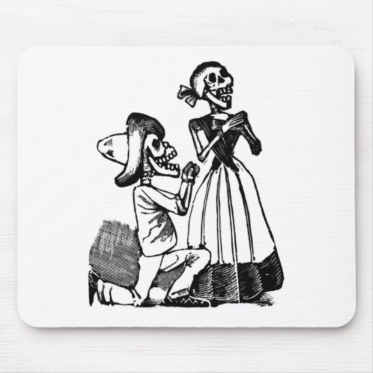 Cupid Calavera, Skeleton Lovers c. 1900s Mouse Pad