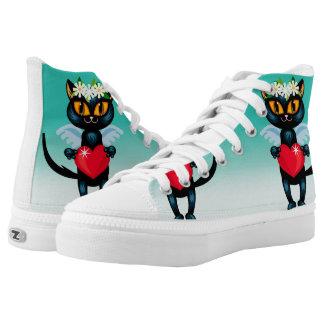 Cupid Cat High-Top Sneakers