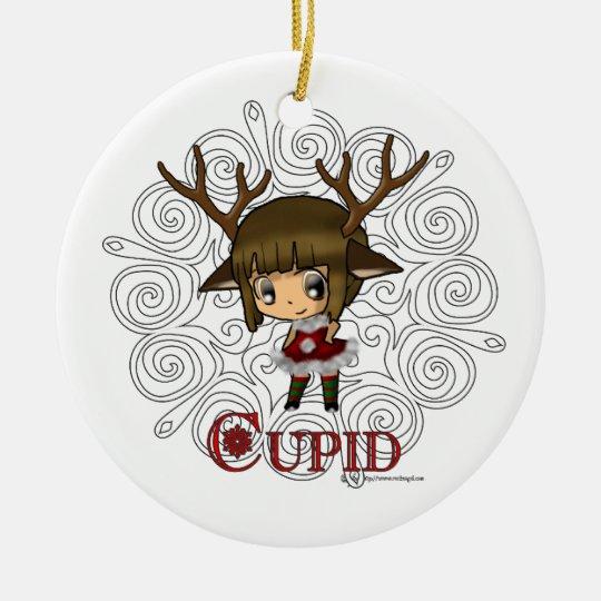 Cupid Ceramic Ornament