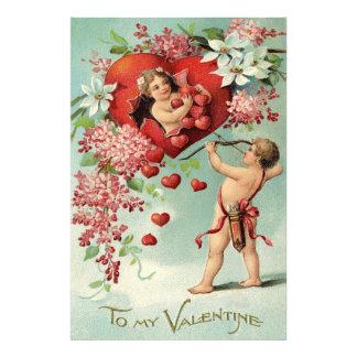 Cupid Cherub Bow Arrow Heart Floral Photo Art