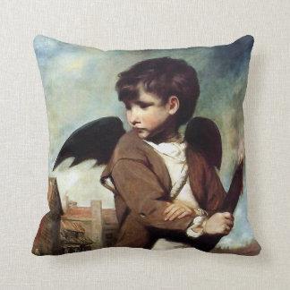 Cupid como muchacho del vínculo cojín