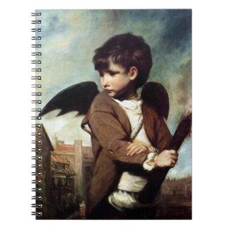 Cupid como muchacho del vínculo libro de apuntes con espiral