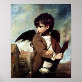 Cupid como muchacho del vínculo póster