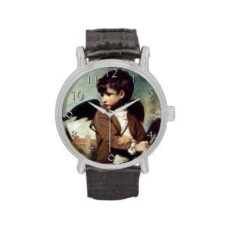 Cupid como muchacho del vínculo relojes de pulsera