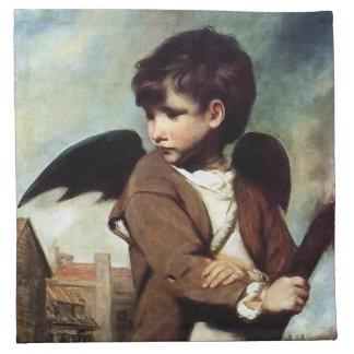 Cupid como muchacho del vínculo servilletas imprimidas