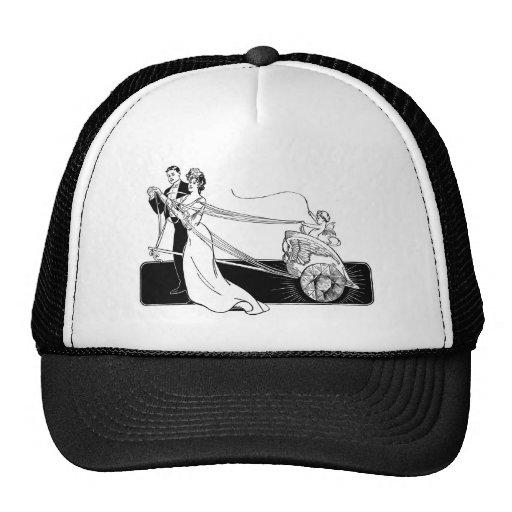 Cupid con un azote gorras de camionero