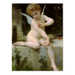 Cupid con una mariposa de Guillermo Bouguereau Postales