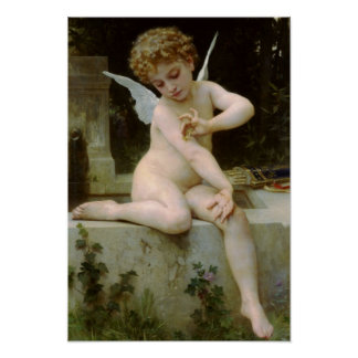Cupid con una mariposa por Bouguereau Posters