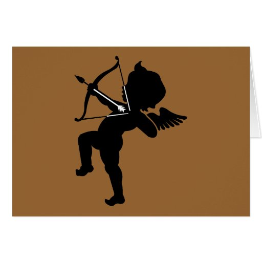 Cupid - Cupids Bow and Arrow of Love Stationery Note Card