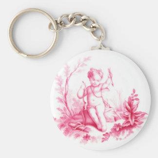 Cupid de la porcelana de Coalbrookdale, pintado 18 Llaveros Personalizados