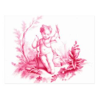 Cupid de la porcelana de Coalbrookdale, pintado Tarjeta Postal