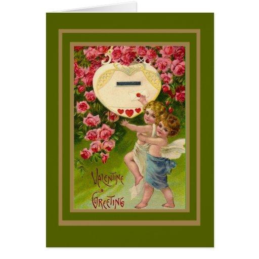 Cupid de la tarjeta del día de San Valentín de la