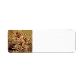 Cupid de Peter Paul Rubens- que monta un delfín Etiquetas De Remite