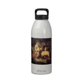 Cupid de regaño de Joshua Reynolds Venus Botella De Agua Reutilizable