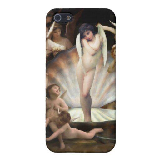 Cupid del anillo de los ángeles de Bouguereau iPhone 5 Funda