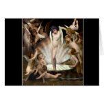 Cupid del anillo de los ángeles de Bouguereau Tarjetón