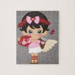 Cupid del corazón del el día de San Valentín Rompecabezas