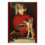 Cupid del día de San Valentín del vintage, ángeles Tarjeta Pequeña