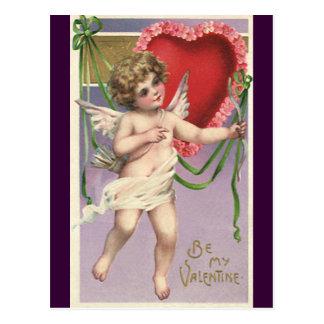 Cupid del el día de San Valentín del Victorian del Tarjetas Postales