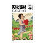 Cupid del Victorian de las tarjetas del día de San