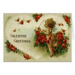 Cupid del Victorian y tarjeta del el día de San Va