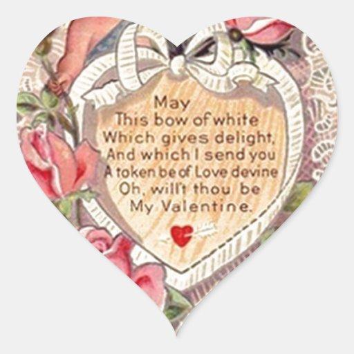 Cupid del vintage con la paloma y la letra de amor calcomanías corazones personalizadas