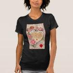 Cupid del vintage con una paloma y una letra de am camiseta