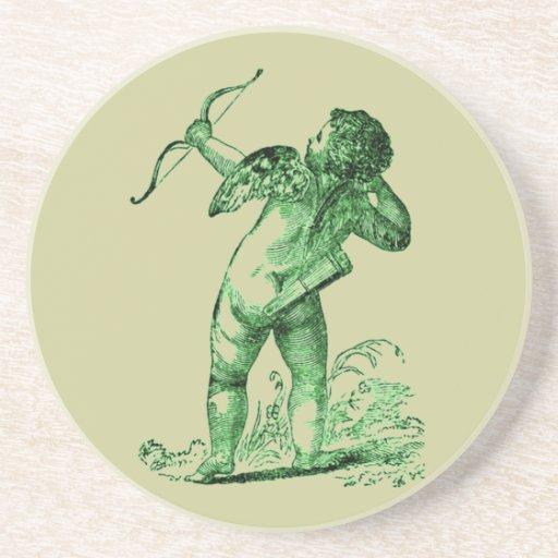 Cupid del vintage posavasos personalizados